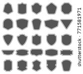 set of blank empty dark shields.... | Shutterstock .eps vector #771581971
