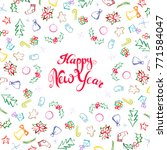 happy new year greeting card.... | Shutterstock .eps vector #771584047