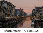 milan  italy  christmas lights...   Shutterstock . vector #771588865