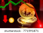 unstable bitcoin concept.... | Shutterstock . vector #771591871