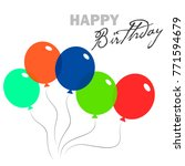 trendy birthday event banner... | Shutterstock .eps vector #771594679