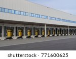 loading dock for trucks with... | Shutterstock . vector #771600625