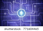 modern ultra hd crypto currency ... | Shutterstock .eps vector #771604465