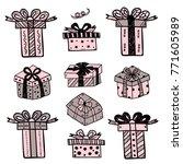 gift boxes set | Shutterstock .eps vector #771605989