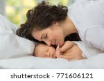 mom's love newborn. | Shutterstock . vector #771606121