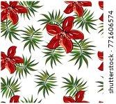 vector seamless pattern flowers ... | Shutterstock .eps vector #771606574