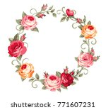 decorative empty circle frame... | Shutterstock .eps vector #771607231