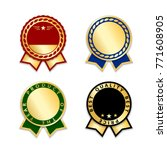 award ribbons isolated set.... | Shutterstock .eps vector #771608905