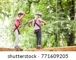 the obstacle course in... | Shutterstock . vector #771609205