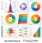 infographic collection of 6... | Shutterstock .eps vector #771612199