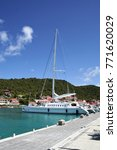 Small photo of Sailboat in Gustavia Harbor - Saint Barthelemy FWI