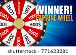wheel of fortune  lucky icon... | Shutterstock .eps vector #771623281