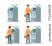 man customer using  credit card ... | Shutterstock .eps vector #771629029