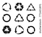 recycling symbol of... | Shutterstock .eps vector #771631891