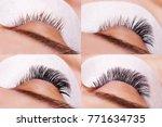 eyelash extension procedure....   Shutterstock . vector #771634735