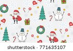 new year christmas winter... | Shutterstock .eps vector #771635107