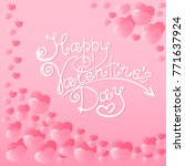 hearts with a lettering of... | Shutterstock . vector #771637924