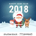 happy new year 2018 decoration... | Shutterstock .eps vector #771644665