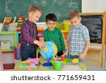 children play in the children's ... | Shutterstock . vector #771659431