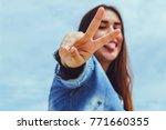 fashion woman.   Shutterstock . vector #771660355