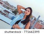 fashion woman   Shutterstock . vector #771662395
