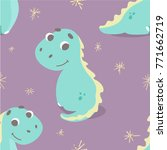 cute seamless pattern with... | Shutterstock .eps vector #771662719