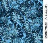 watercolor seamless pattern... | Shutterstock . vector #771662884