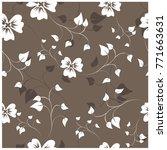 vector seamless pattern flowers ... | Shutterstock .eps vector #771663631