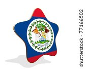Belize flag STAR BANNER - stock photo