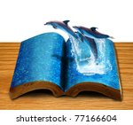 Magic Book With Three Dolphins...