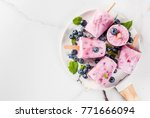 summer sweets and desserts.... | Shutterstock . vector #771666094