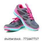 new unbranded running shoe ... | Shutterstock . vector #771667717