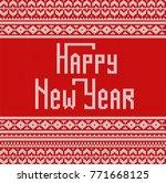 celebratory knitted background... | Shutterstock .eps vector #771668125