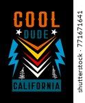 california cool dude t shirt... | Shutterstock .eps vector #771671641