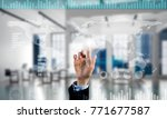 hand of businesswoman working... | Shutterstock . vector #771677587