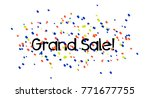 grand sale  beautiful greeting... | Shutterstock .eps vector #771677755