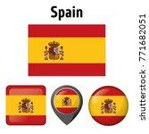 illustration flag of spain  and ... | Shutterstock .eps vector #771682051
