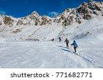 passo del tonale   italy   ski...   Shutterstock . vector #771682771