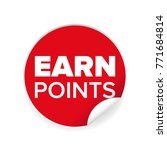 earn points sign label tag... | Shutterstock .eps vector #771684814