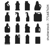 bottles of household chemicals... | Shutterstock .eps vector #771687634