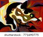 stained glass forever series.... | Shutterstock . vector #771690775