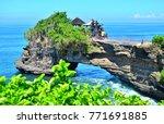 tanah lot  batu bolong  bali ... | Shutterstock . vector #771691885