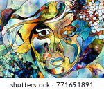 stained glass forever series.... | Shutterstock . vector #771691891