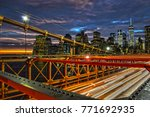 view of sunset over a lower... | Shutterstock . vector #771692935