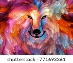 dog paint series. background... | Shutterstock . vector #771693361