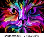 cat paint series. backdrop... | Shutterstock . vector #771693841
