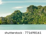 a scenery of a sea and a... | Shutterstock . vector #771698161