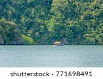 a scenery of a sea and a... | Shutterstock . vector #771698491