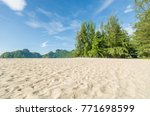 beautiful beach scenery with... | Shutterstock . vector #771698599