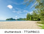 beautiful beach scenery with... | Shutterstock . vector #771698611